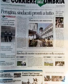 Corriere dell'Umbria – 30 agosto 2015