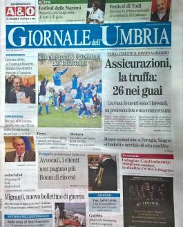 Giornale dell'Umbria – 29 agosto 2015